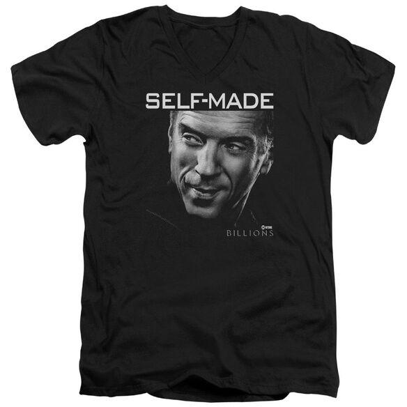 Billions Self Made Short Sleeve Adult V Neck T-Shirt