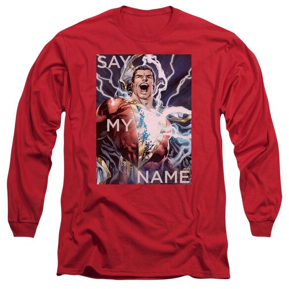 Jla Say My Name Long Sleeve Adult T-Shirt