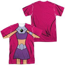 Teen Titans Go Starfire Uniform (Front Back Print) Short Sleeve Adult Poly Crew T-Shirt