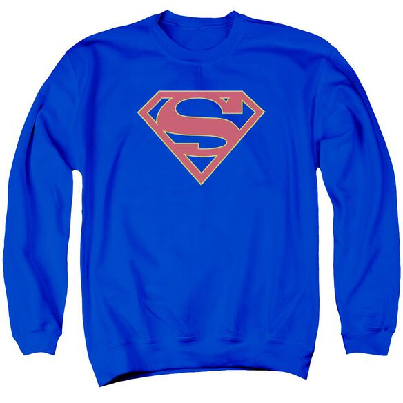 Supergirl Logo Adult Crewneck Sweatshirt Royal