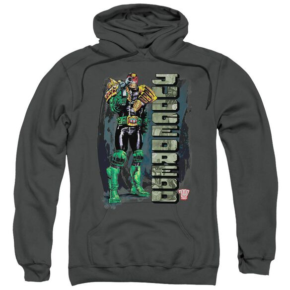 Judge Dredd Blam Adult Pull Over Hoodie