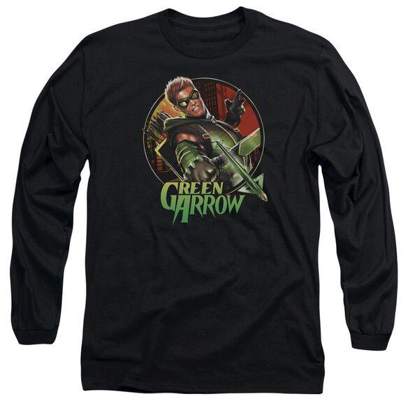Jla Sunset Archer Long Sleeve Adult T-Shirt