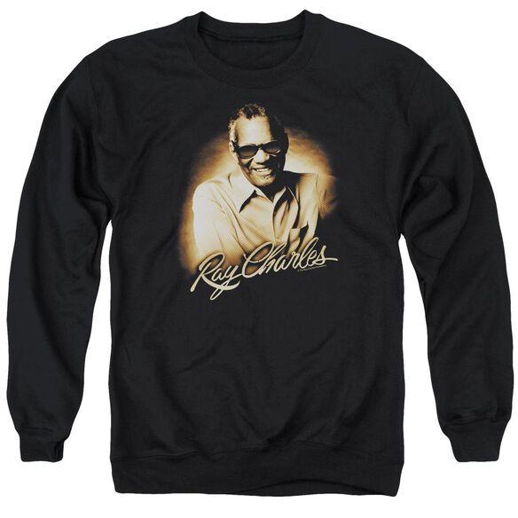 Ray Charles Sepia Adult Crewneck Sweatshirt