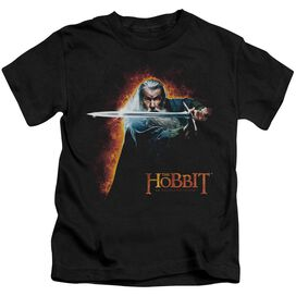 The Hobbit Secret Fire Short Sleeve Juvenile Black T-Shirt