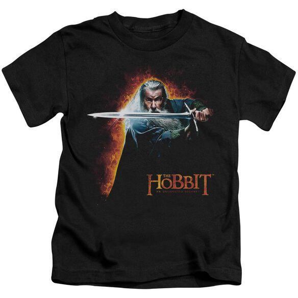 The Hobbit Secret Fire Short Sleeve Juvenile Black T-Shirt
