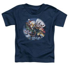 Garfield Moonlight Ride Short Sleeve Toddler Tee Navy T-Shirt