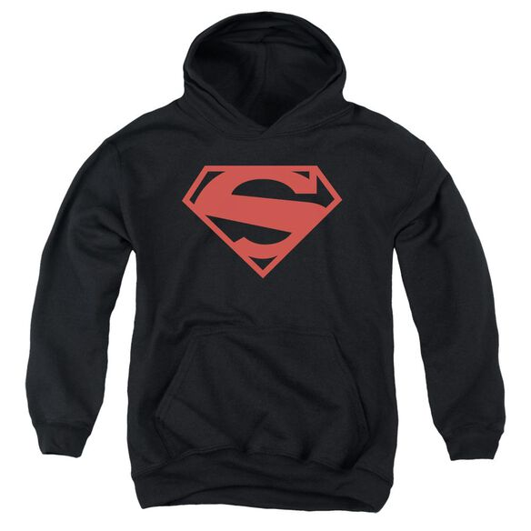 Superman 52 Red Block Youth Pull Over Hoodie