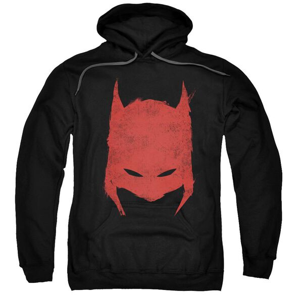 Batman Hacked &Amp; Scratched Adult Pull Over Hoodie Black