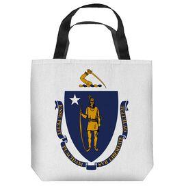 Massachusettes Flag Tote Bag