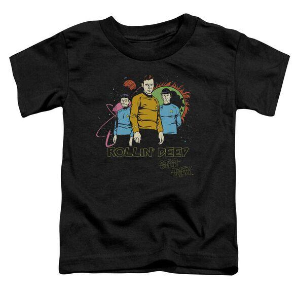 Star Trek Rollin Deep Short Sleeve Toddler Tee Black Lg T-Shirt