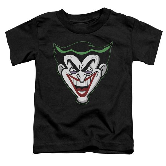 Batman Bb Animated Joker Head Short Sleeve Toddler Tee Black Md T-Shirt