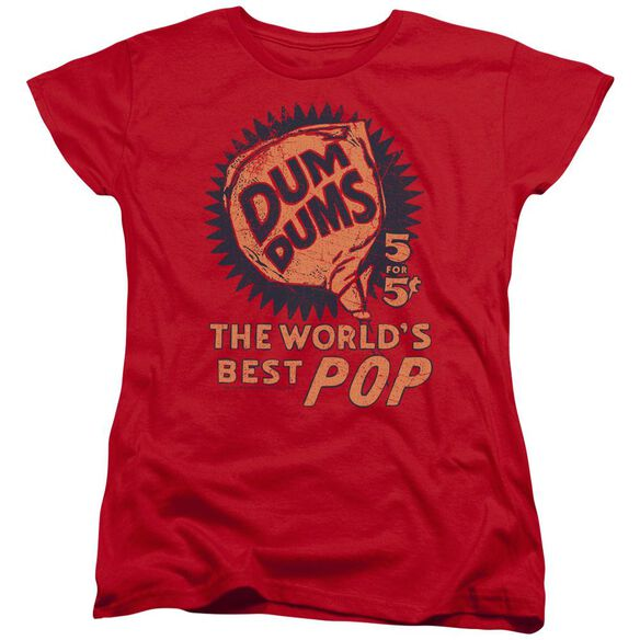 Dum Dums 5 For 5 Short Sleeve Womens Tee Red T-Shirt