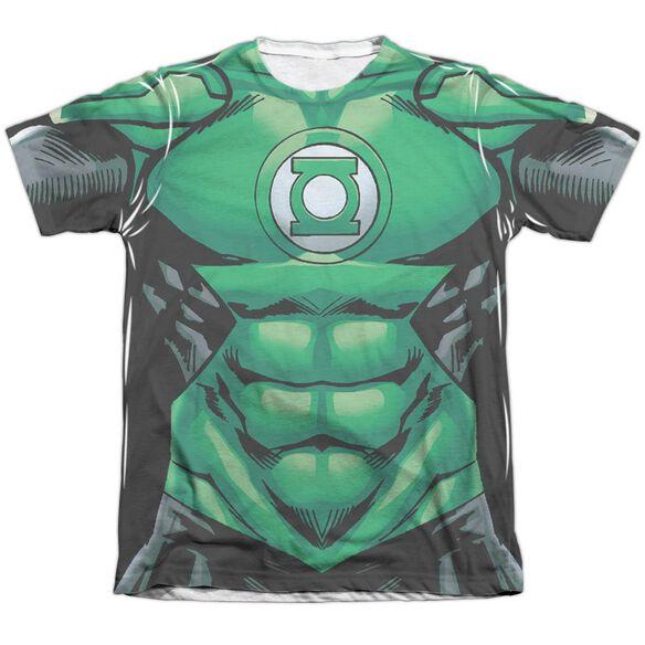 Green Lantern Uniform Adult Poly Cotton Short Sleeve Tee T-Shirt