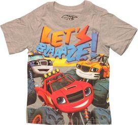 Blaze Monster Machines Lets Blaze Toddler T-Shirt