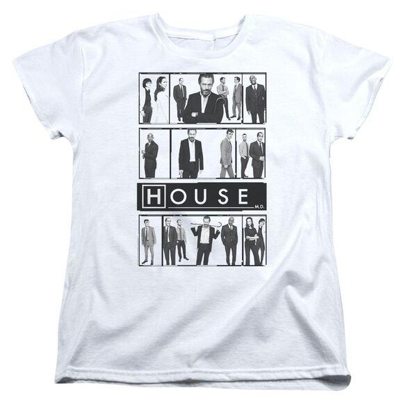 House Film Short Sleeve Womens Tee White T-Shirt