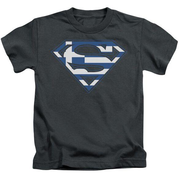 SUPERMAN GREEK SHIELD - S/S JUVENILE 18/1 - CHARCOAL - T-Shirt