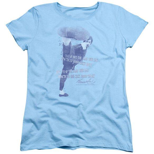Bruce Lee 10,000 Kicks Short Sleeve Womens Tee Light T-Shirt
