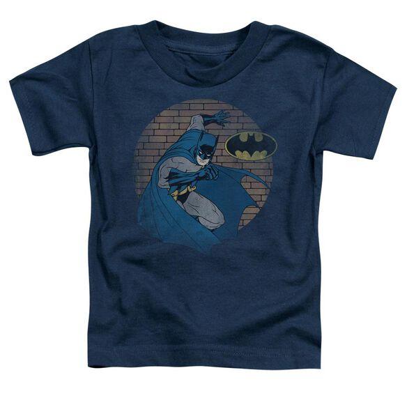 Batman In The Spotlight Short Sleeve Toddler Tee Navy Lg T-Shirt