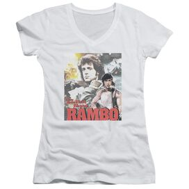 Rambo:First Blood They Drew Collage Junior V Neck T-Shirt