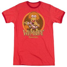 Fraggle Rock Wembley Circle Adult Heather Ringer Red