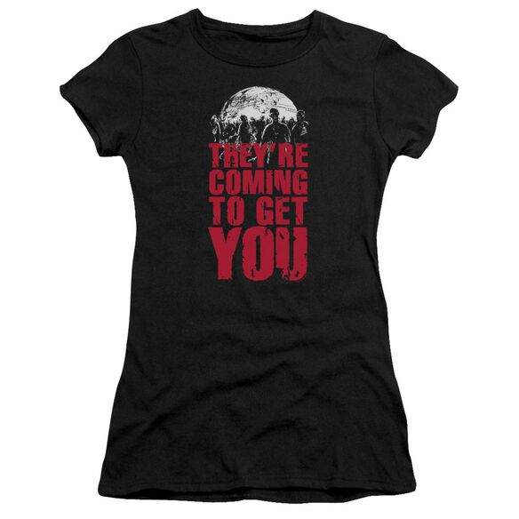 They're Coming To Get You Short Sleeve Junior Sheer T-Shirt
