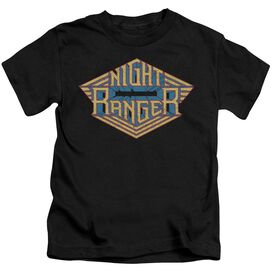 Night Ranger Logo Short Sleeve Juvenile Black T-Shirt