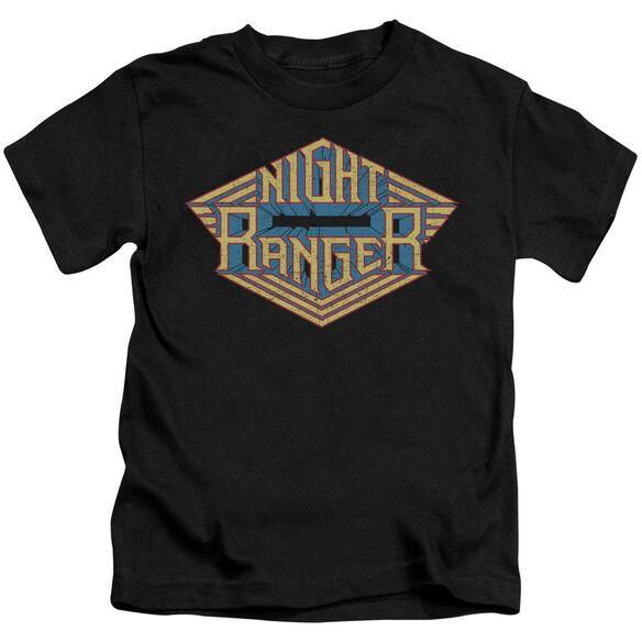 Night Ranger Logo Short Sleeve Juvenile Black T-Shirt