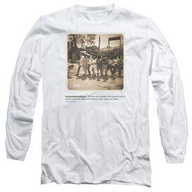 Sandlot Pantywaist Long Sleeve Adult T Shirt White Md