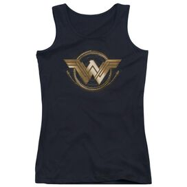 Wonder Woman Movie Lasso Logo Juniors Tank Top
