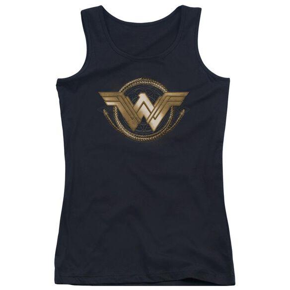 Wonder Woman Movie Lasso Logo Juniors Tank Top