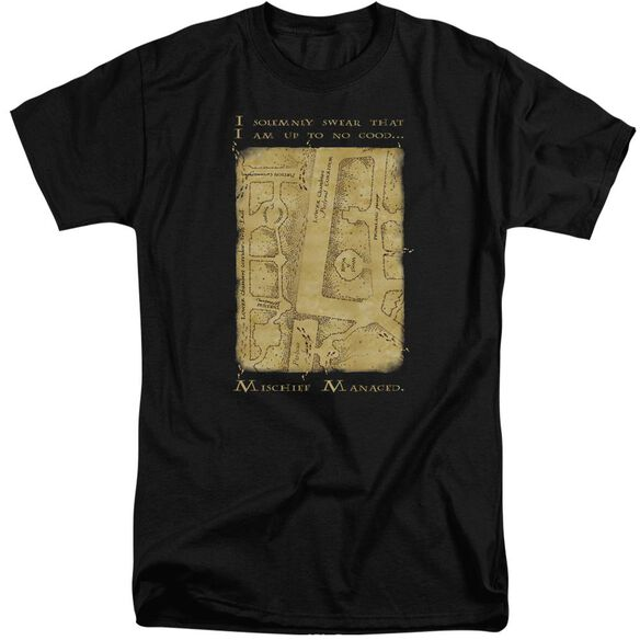 Harry Potter Marauders Map Interior Words Short Sleeve Adult Tall T-Shirt