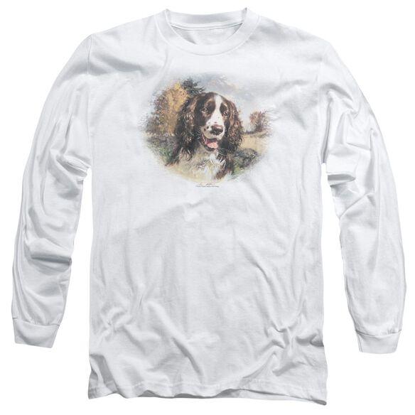 Wildlife Springer Spaniel Head Long Sleeve Adult T-Shirt