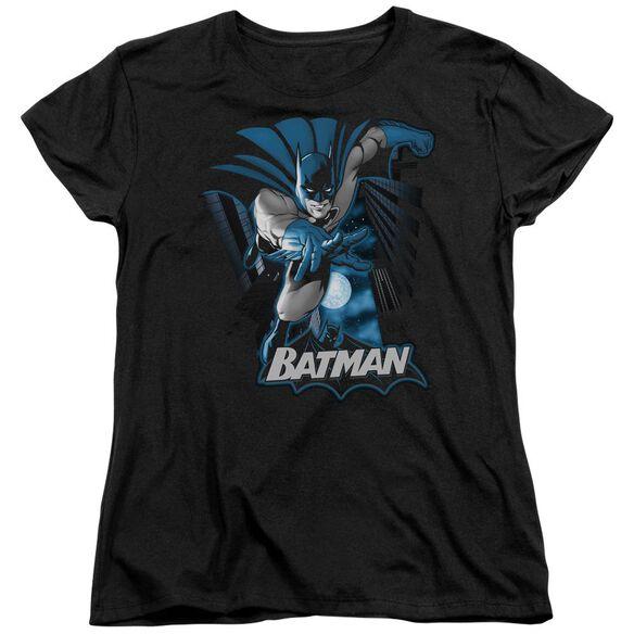 Jla Batman Blue & Gray Short Sleeve Womens Tee T-Shirt
