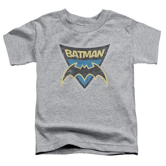 Batman Bb Batman Shield Short Sleeve Toddler Tee Athletic Heather Lg T-Shirt