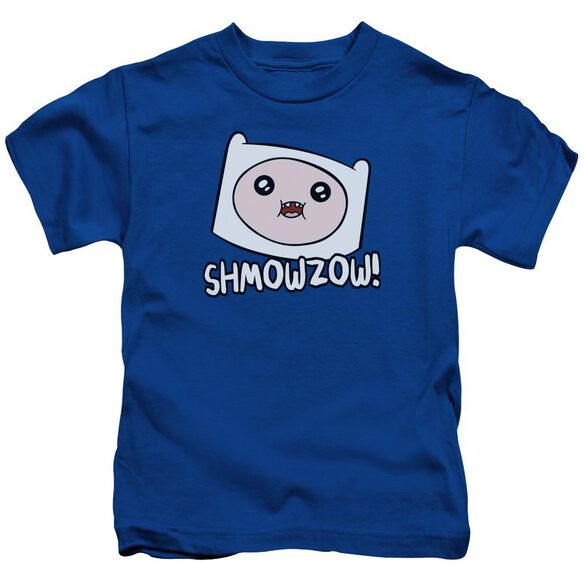 Adventure Time Shmowzow Short Sleeve Juvenile Royal T-Shirt