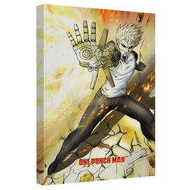 One Punch Man Genos Canvas Wall Art With Back Board