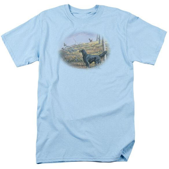 Wildlife Looking Back Short Sleeve Adult Light Blue T-Shirt