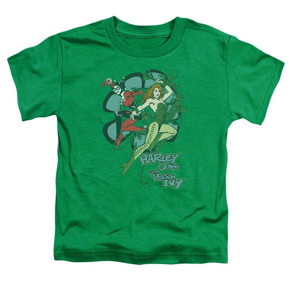 Dc Harley And Ivy Short Sleeve Toddler Tee Kelly Green Lg T-Shirt
