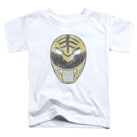Power Rangers White Ranger Mask Short Sleeve Toddler Tee White T-Shirt