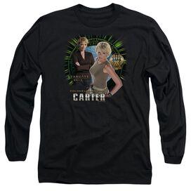 SG1 SAMANTHA CARTER - L/S ADULT 18/1 - BLACK T-Shirt