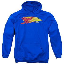 Dc Fastest Man Alive Adult Pull Over Hoodie Royal