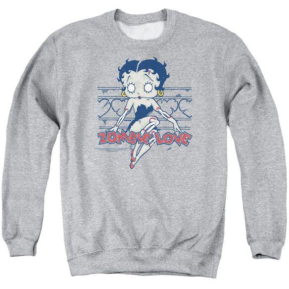 Betty Boop Zombie Pinup Adult Crewneck Sweatshirt Athletic