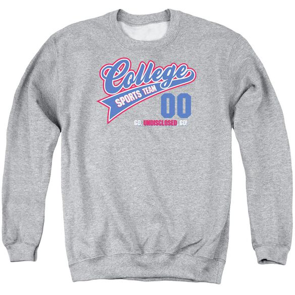 College Sports Team Adult Crewneck Sweatshirt Athletic