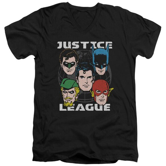 Jla Head Of States Short Sleeve Adult V Neck T-Shirt