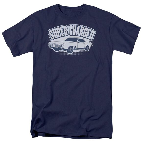 SUPER CHARGED- ADULT 18/1 - NAVY T-Shirt