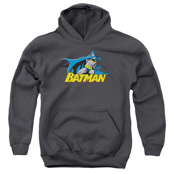 Batman 8 Bit Cape Youth Pull Over Hoodie