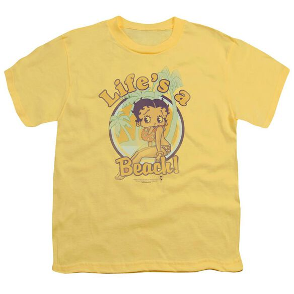 Betty Boop Life's A Beach Short Sleeve Youth T-Shirt