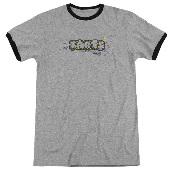 Farts Candy Finger Logo Adult Ringer Heather Black