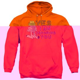 Garfield Yes I Am - Adult Pull-over Hoodie - Orange