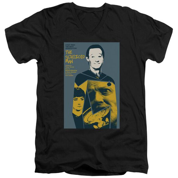 Star Trek Tng Season 2 Episode 6 Short Sleeve Adult V Neck T-Shirt